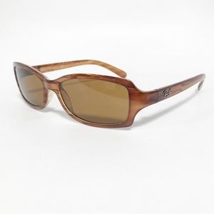 Ray ban Wooden like frame. Thin rectangular cut